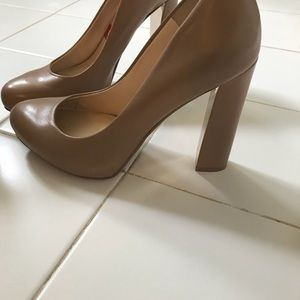 Nine West pumps beige tan